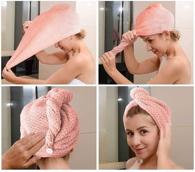toalla microfibra pelo rizado